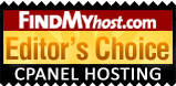 KVChosting has been awarded by FindMyHost Editor's Choice Award for cPanel Hosting
