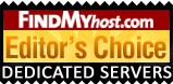 KVChosting has been awarded by FindMyHost Editor's Choice Award for Dedicated Server
