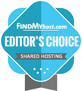 KVChosting has been awarded by FindMyHost Editor's Choice Award for Shared Hosting for March 2020