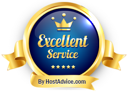 KVChosting has been awarded Excellent Service by HostAdvice